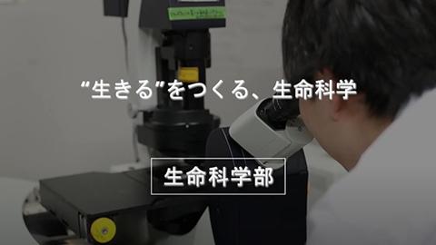 生命科学部 紹介ムービー (56秒)